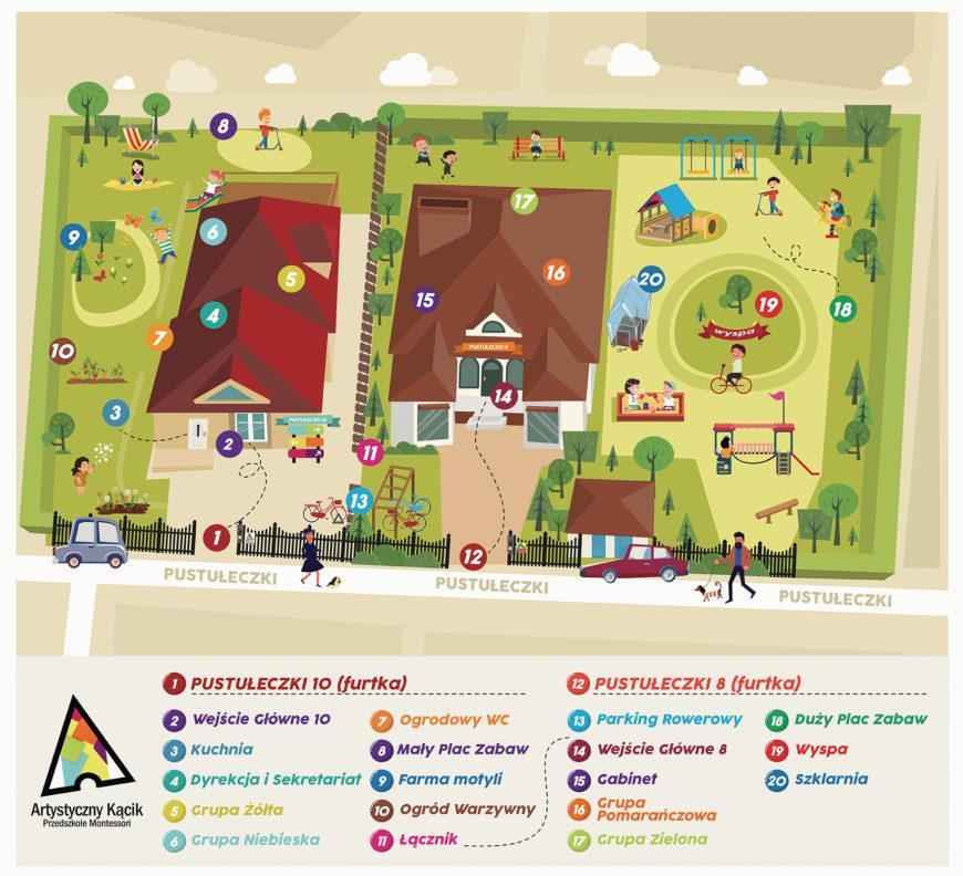 Przedszkole Montessori - mapa